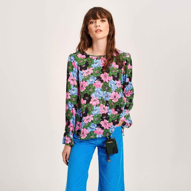 Essentiel Terracotta Floral Print Blouse - T2MB-36 - Jashanmal Home