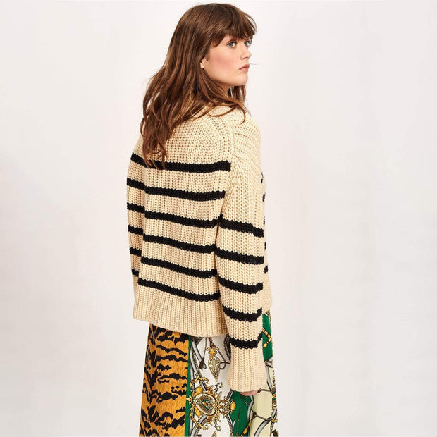 Essentiel Tigroo Knitted Sweater - Off-White - T1OW