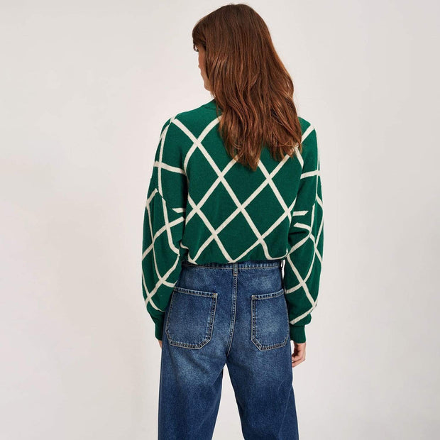 Essentiel Tigroo Knitted Sweater - Green - T1BF