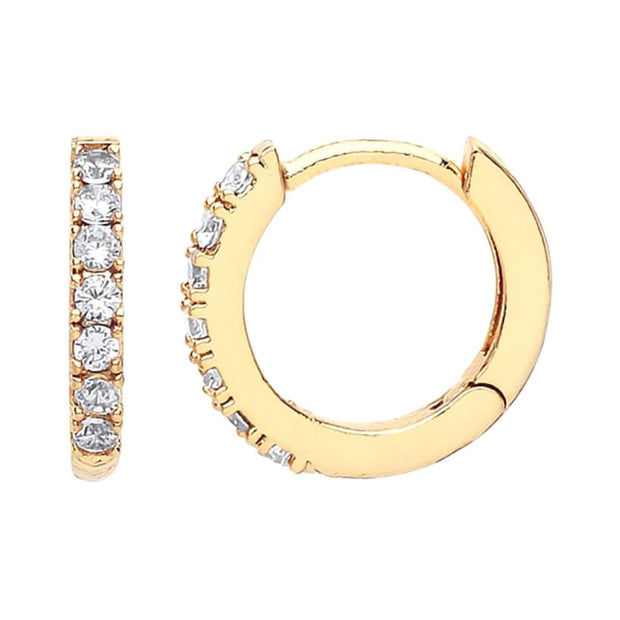 Estella Bartlett Gold Plated Hoop Earrings with White Cubic Zirconia - EB1957 - Jashanmal Home