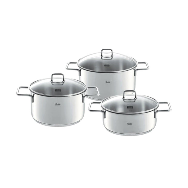 FISSLER MUNCHEN STAINLESS STEEL POT SET- 6 PIECE SET - Jashanmal Home