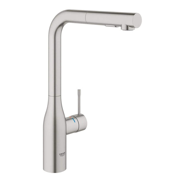 Grohe Essence Foot Control L-Spout Spray Sink Mixer - 30311000 - Jashanmal Home
