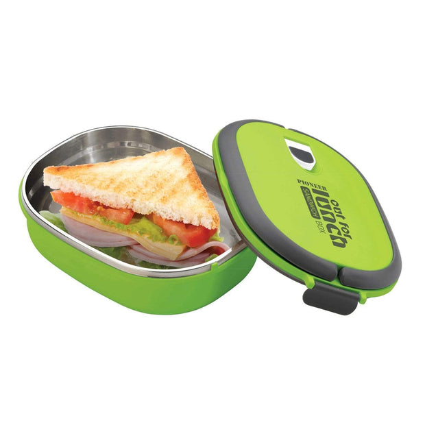 Grunwerg Rectangular Out for Lunch Sandwich Box - Green - SLB-707G - Jashanmal Home