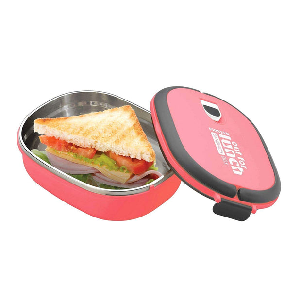 Grunwerg Rectangular Out for Lunch Sandwich Box - Pink - SLB-707P - Jashanmal Home
