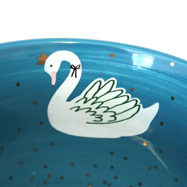Disaster Designs Secret Garden Swan Teacup with Gift Box - White and Blue - SECCUPSWA - Jashanmal Home