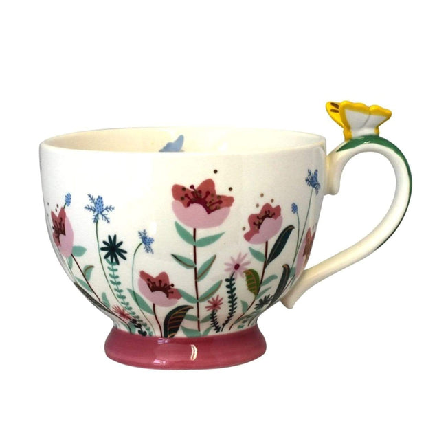 Disaster Designs Secret Garden Flower Teacup with Gift Box - Multi Colour - SECCUPFLO