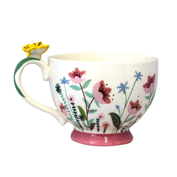 Disaster Designs Secret Garden Flower Teacup with Gift Box - Multi Colour - SECCUPFLO - Jashanmal Home
