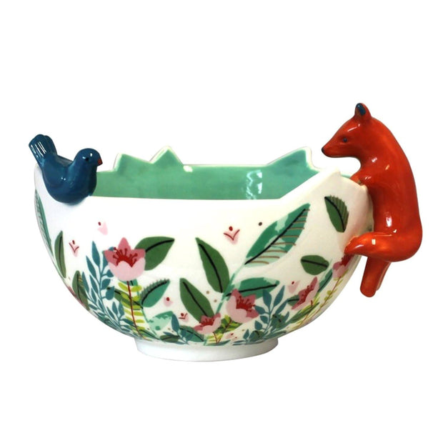 Disaster Designs Secret Garden Fox Bowl with Gift Box - Multi Colour - SECBOWFOX