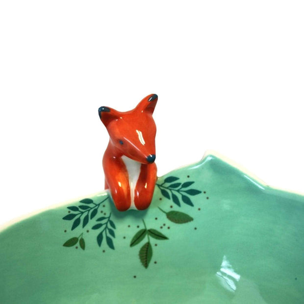 Disaster Designs Secret Garden Fox Bowl with Gift Box - Multi Colour - SECBOWFOX - Jashanmal Home