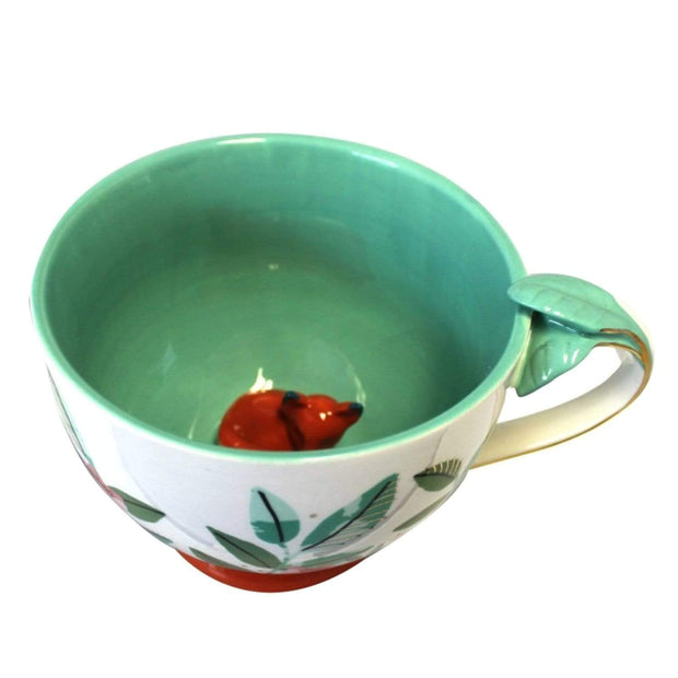 Disaster Designs Secret Garden Fox Teacup with Gift Box - Multi Colour - SECCUPFOX - Jashanmal Home