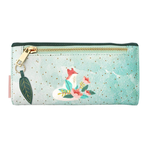Disaster Designs Secret Garden Fox Wallet - Green - SECWALFOX - Jashanmal Home