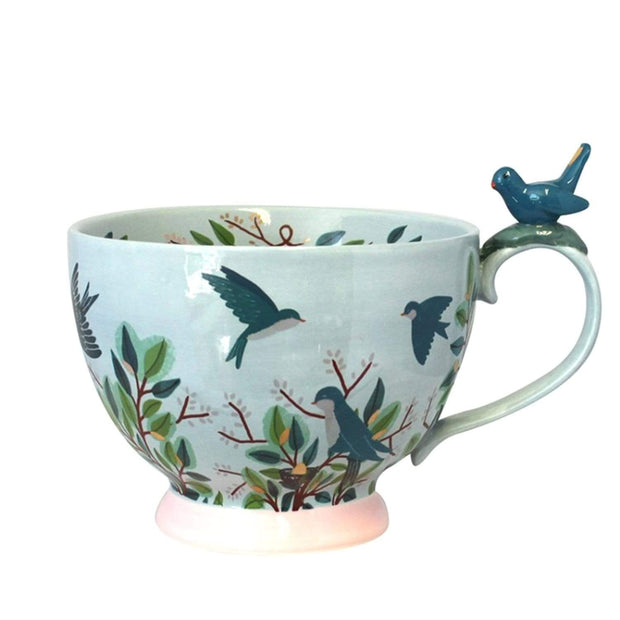 Disaster Designs Secret Garden Bird Teacup with Gift Box - Blue - SECCUPBIR - Jashanmal Home