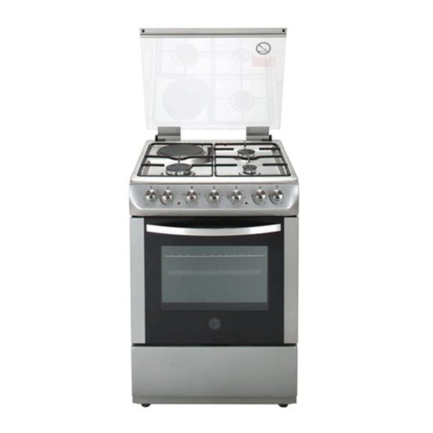 Hoover Gas Cooker with Electric Oven - Silver - MGC60.00S - Jashanmal Home