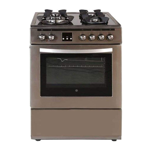 Hoover Dual Gas Cooker on Glass with Hob Electric Oven - Silver - FMC66.01S - Jashanmal Home