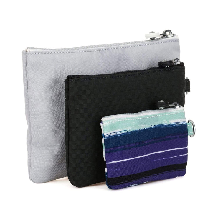 Kipling Iaka Detachable Pouch Set - Active Grey, 3 Piece - I3625-21P