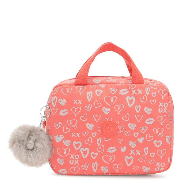 Kipling LOUNAS Wheeled School Bags - Hearty Pink Met - I3471-83S - Jashanmal Home