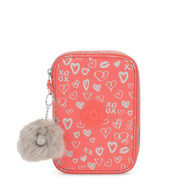 Kipling 100 Pens School Accessories - Hearty Pink Met - 09405-83S - Jashanmal Home