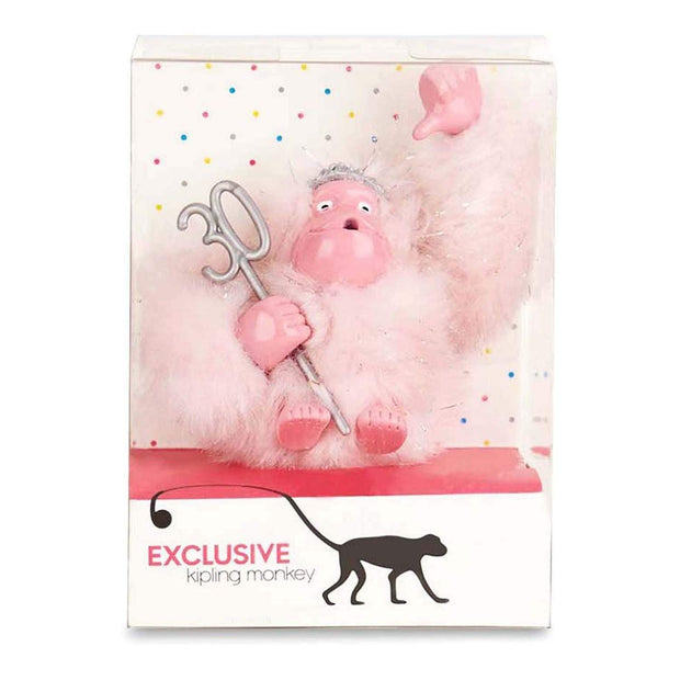 Kipling Pink Party Monkey Keychain - Frost Pink - 00030-31A - Jashanmal Home