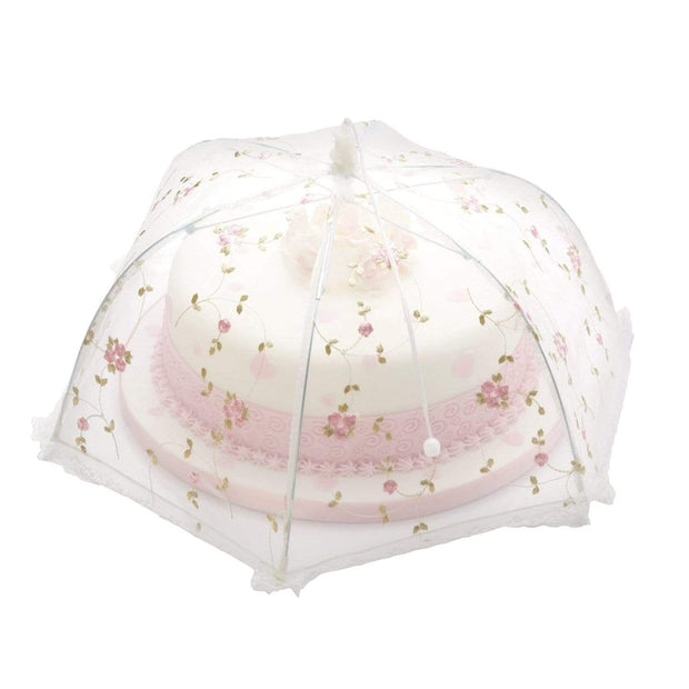 KitchenCraft Sweetly Does It Umbrella Food Cover - Clear - KCCOVFLOLRG - Jashanmal Home
