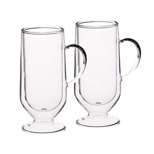 Kitchen Craft Le'Xpress Insulated Double-Walled Latte Glass Set of 2 - Clear, 325 ml - KCLXDWLATTE2PC - Jashanmal Home