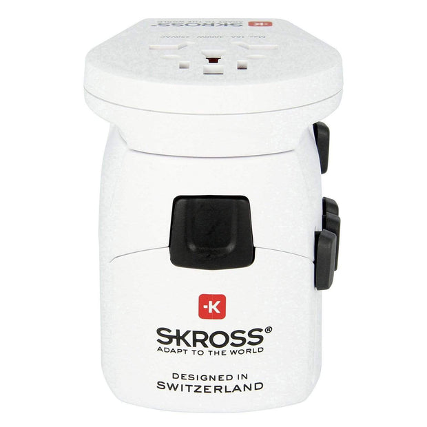 Skross Pro World and USB 6.3 A Multi Plug Adapter - White - 1302535 - Jashanmal Home