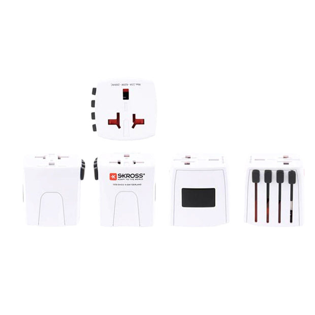 Skross MUV Micro Multi Plug Travel Adapter without USB - White - 1302180 - Jashanmal Home