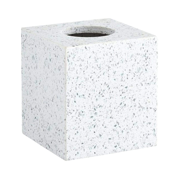 Kassatex Terrazo Natural Stone Tissue Holder - ATZ-TH-LGY