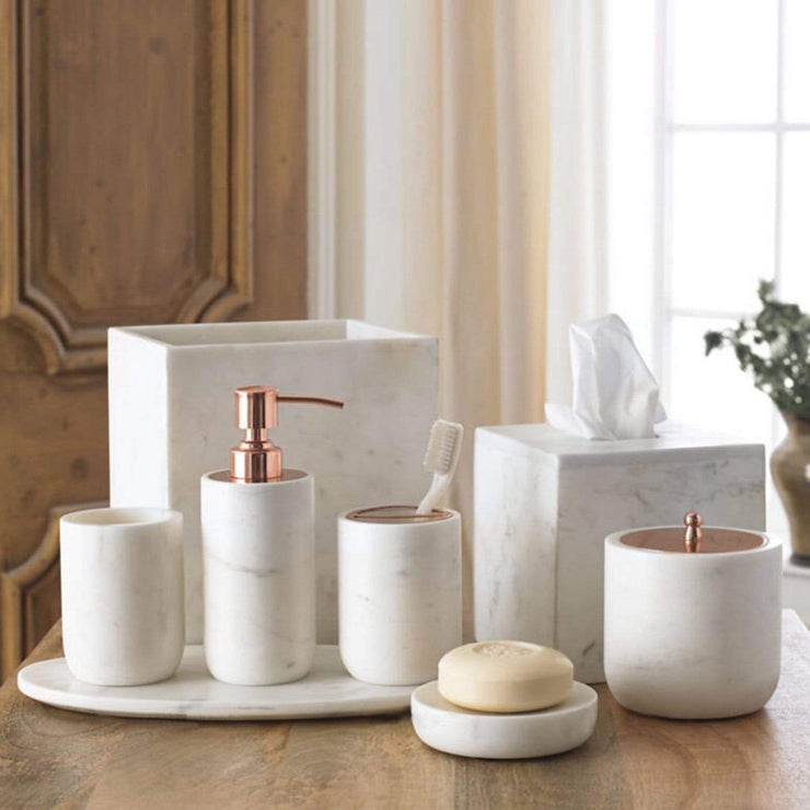 Kassatex Pietra Calacatta Marble Toothbrush Holder - White - APT-TBH - Jashanmal Home
