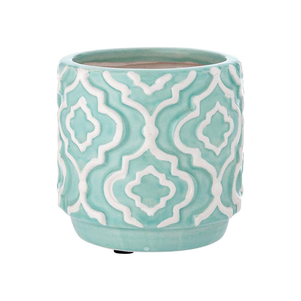 Ladelle Resort 13.5 cm Light Blue Planter Pot - 61293 - Jashanmal Home