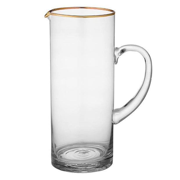 Ladelle Chloe Glass Jug - Clear and Gold - 61462 - Jashanmal Home