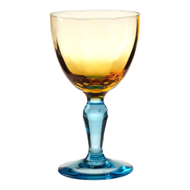 La Rochere Romantique Wine Glass - Yellow and Blue - 179242 - Jashanmal Home