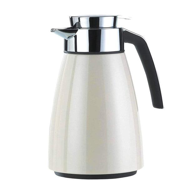 Emsa Bell Quick Tip Flask - Crome and White, 1 Litre - 2259221 - Jashanmal Home