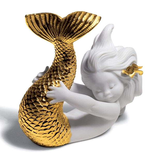 Lladro Playing At Sea Mermaid Figurine - 1008559