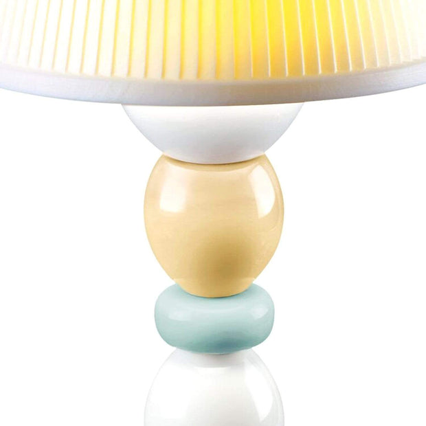 Lladro Palm Firefly Pale Blue Table Lamp - 1023764 - Jashanmal Home
