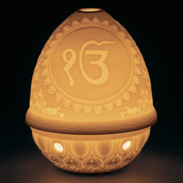 Lladro Ik Onkar Lithophane Votive Light - 1017371