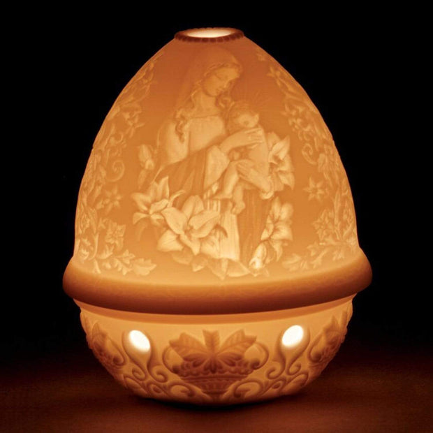 Lladro Madonna of The Flowers Lithophane Votive Light - 1017343 - Jashanmal Home
