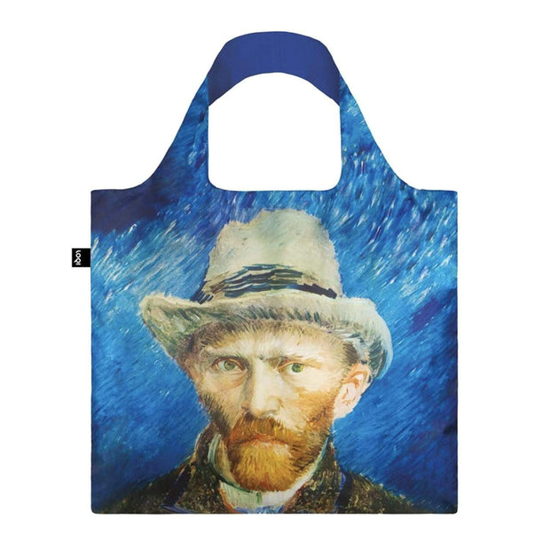 Loqi Museum Vincent Van Gogh Self Port Grey Felt Hat Tote Bag - VG.SP - Jashanmal Home