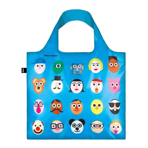 Loqi Artist Stephen Cheetham Faces Tote Bag - SC.FA - Jashanmal Home