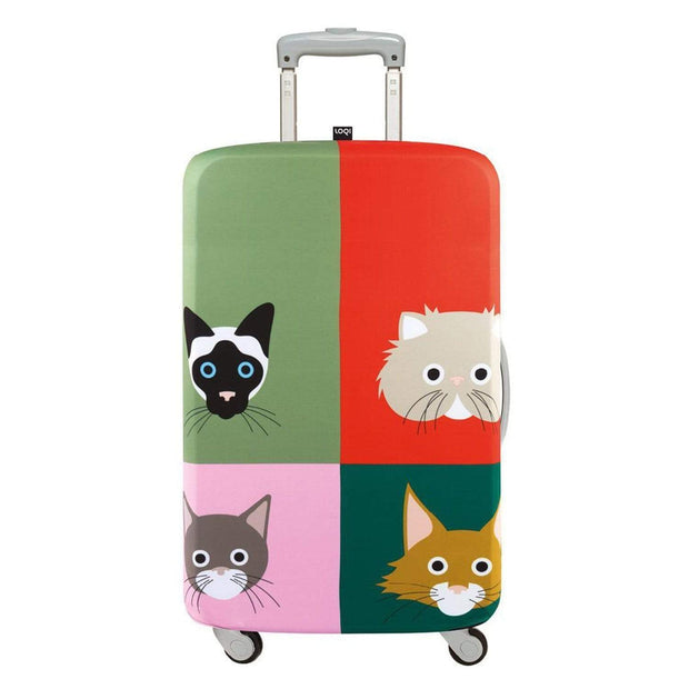 Loqi Artist Stephen Cheetham Cats Luggage Cover - Multicolour, Large - LL SC CA - Jashanmal Home