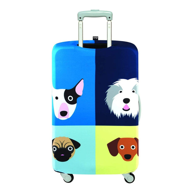 Loqi Artist Stephen Cheetham Dogs Luggage Cover - Multicolour, Small - LS.SC.DO - Jashanmal Home