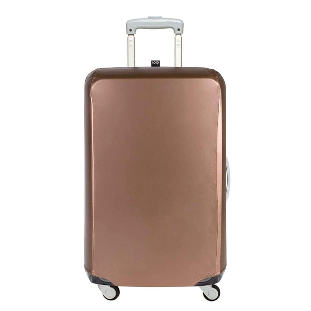 Loqi Luggage Cover - Metallic Rose Gold, Small - LS.ME.RO - Jashanmal Home