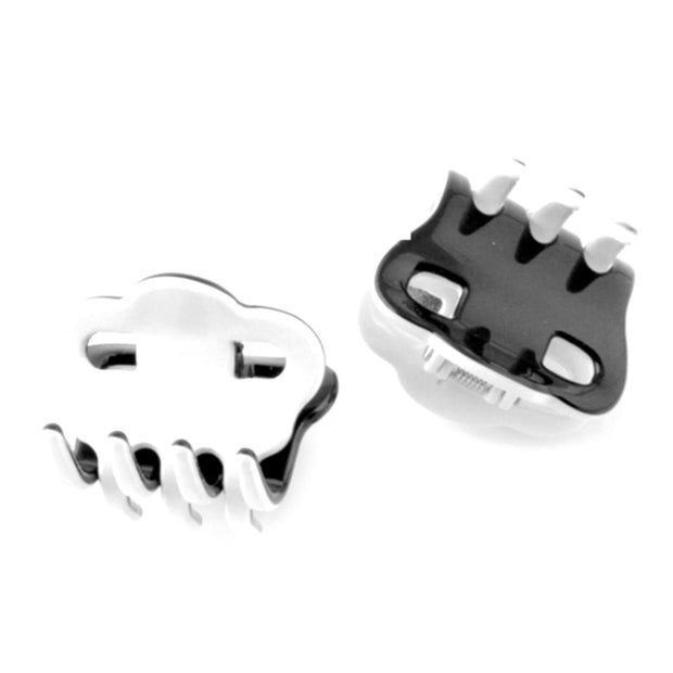 Moliabal MOL-239 Claw Hair Clip - White and Black, Small - MOL-239 - Jashanmal Home