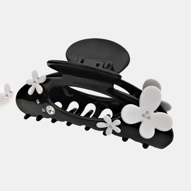 Moliabal Claw Hair Clip - Black and White, Extra Large - MOL-226 - Jashanmal Home