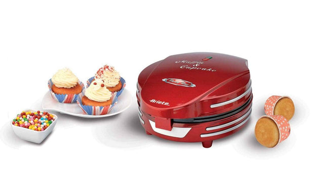 ARIETE PARTY TIME MUFFIN MAKER RED 0188