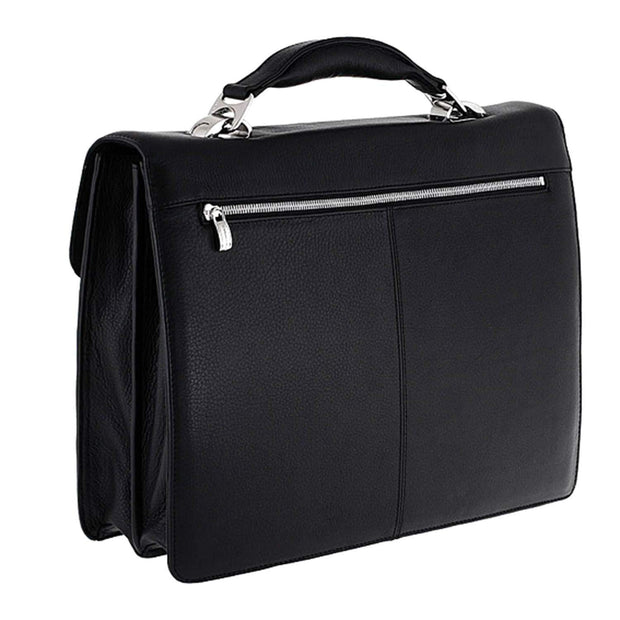 Piquadro Modus 2 Dividers Leather Briefcase - Black - CA1152MO/N - Jashanmal Home