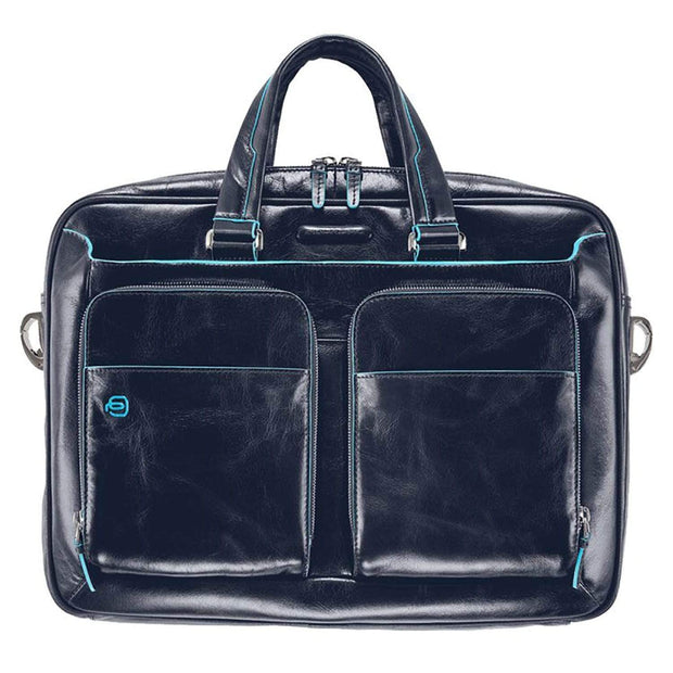 Piquadro Blue Square Briefcase - Blue - CA2849B2/BLU2 - Jashanmal Home