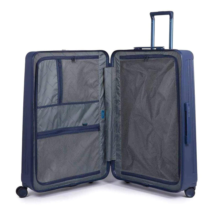 Piquadro Seeker Hardside Spinner TSA Lock Trolley Bag - Blue - BV4428SK/BLU