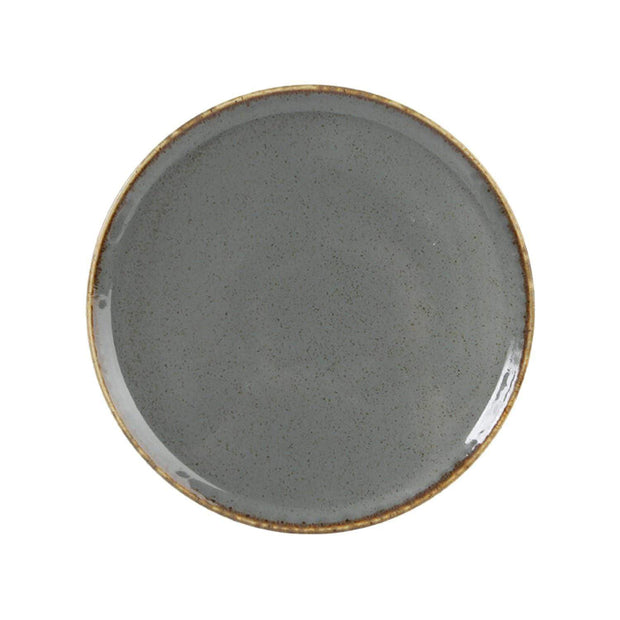 Porland Porselen Seasons 20 cm Pizza Plate - Dark Grey - 04ALM002471 - Jashanmal Home