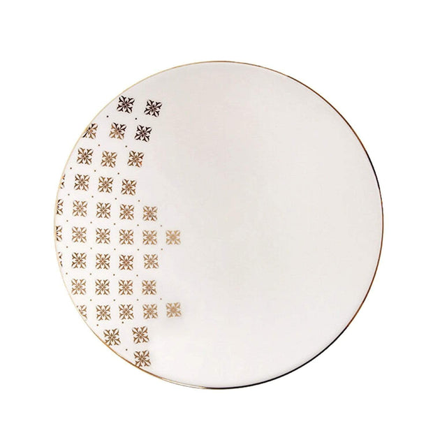 Porland Porselen Evoke 19 cm Deep Plate - Cream and Gold - 04ALM002707