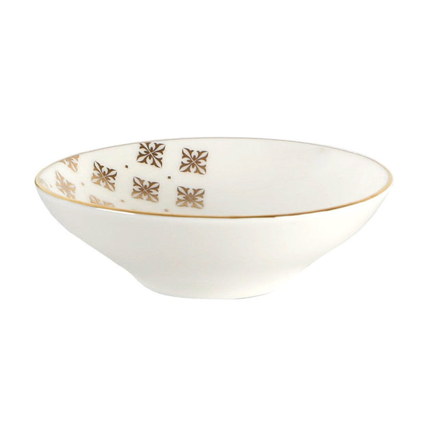 Porland Porselen Evoke 12 cm Bowl - Cream and Gold - 04ALM002716 - Jashanmal Home
